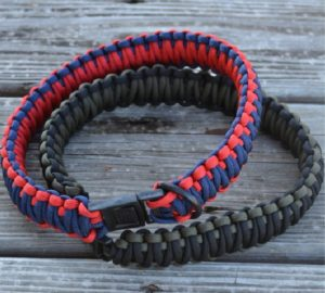 Paracord Dog Collar with King Cobra Weave