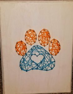 Paw String Art Pattern