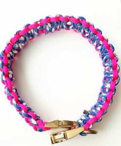 Pink Paracord Dog Collar Instructions