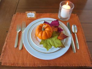 Rustic Burlap Placemats for Halloween