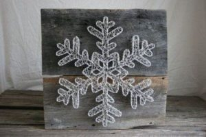 Snowflake String Art Pattern