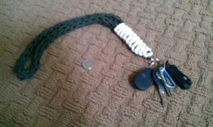Spool Knit Paracord Neck Lanyard