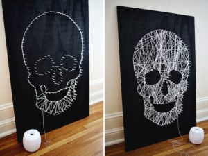 String Art Skull for Halloween