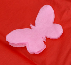 Tissue Paper Butterfly Template