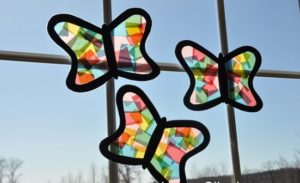 Tissue Paper Butterflies Stained Glass