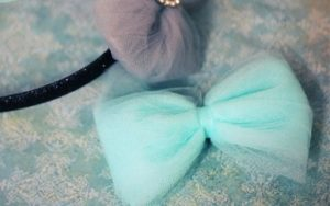 Tulle Puff Hair Bows Tutorial