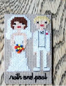 Wedding Cross Stitch Patterns Bride Groom