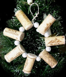 Wine Cork Beads Snowflakes Ornaments