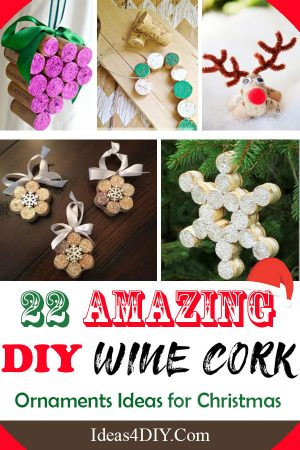 Wine Cork Ornament Ideas for Christmas