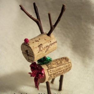 Wine Cork Rudolph Ornament DIY
