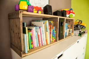 Bookshelf Made from Pallets