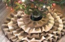 Burlap Christmas Tree Skirt Pattern