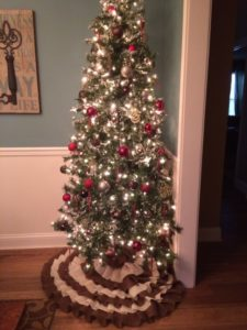 Burlap Tree Skirt Christmas