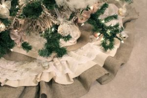 Burlap and Lace Tree Skirt