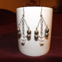 Chandelier Safety Pin Earrings