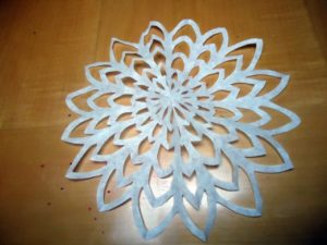 Coffee Filter Snowflake Directions