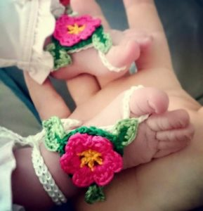 Crochet Barefoot Baby Sandals Pattern