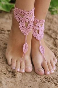 Crochet Barefoot Sandals for Beach