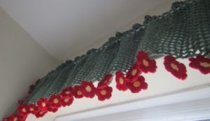 Crochet Flower Valance