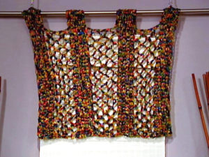 Crochet Multi Colored Valance