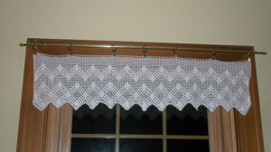 Crochet Valance Curtains
