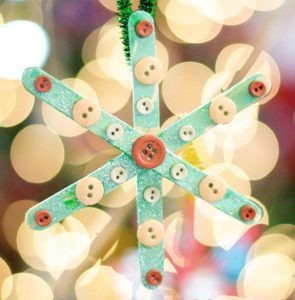 Cute Popsicle Stick Snowflake