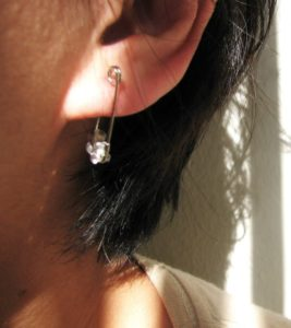 Earrings with Safety Pins