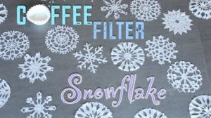 Easy Coffee Filter Snowflakes