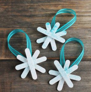 Frozen Popsicle Stick Snowflakes Pattern