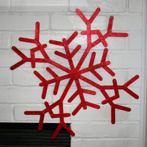 Gigantic Popsicle Stick Snowflake