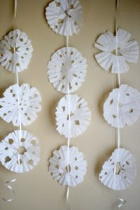 How to Make Coffee Filter Snowflake