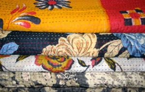Kantha Quilt on Bed