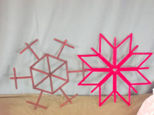 Large Popsicle Stick Snowflakes