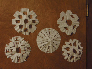 Make Coffee Filter Snowflakes