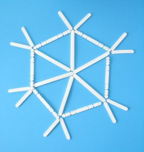 Make Popsicle Stick Snowflake