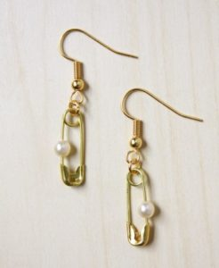 Make Safety Pin Earrings