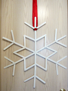 Popsicle Stick Snowflake DIY