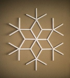Popsicle Stick Snowflake Ideas