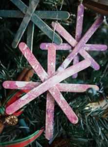 Popsicle Stick Snowflake Kids