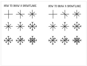 Popsicle Stick Snowflake Template