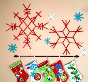 Popsicle Stick Snowflakes Christmas