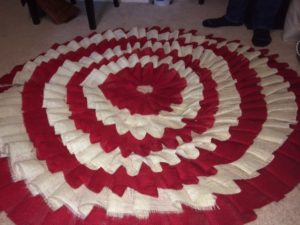 Red Burlap Christmas Tree Skirt