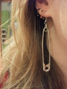 Safety Pin Earring Instructions