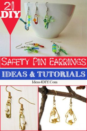Safety Pin Earrings Ideas