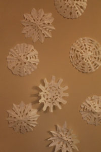 Simple Coffee Filter Snowflakes