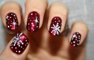 Snowflake Nail Art Designs for Christmas