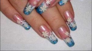 Snowflake Nail Art Ideas