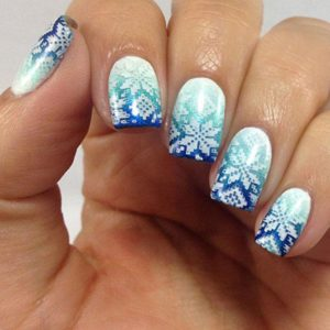 Snowflake Nail Art Winter