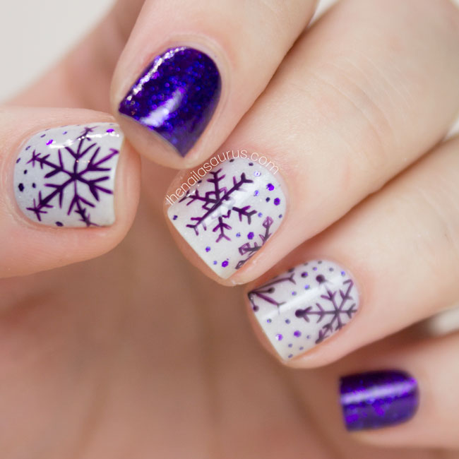 25 Amazing DIY Snowflake Nail Art Designs With Instructions