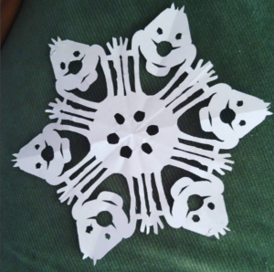 Snowflake Patterns with Coffee Filter